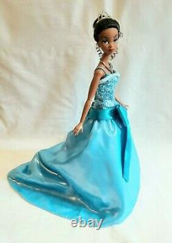 Ashton Drake Integrity Toys Limited Edition Tiana Doll Blue Sequin Gown