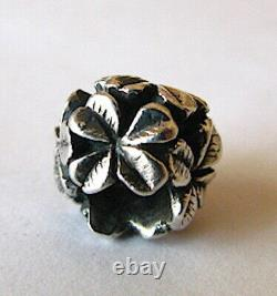 Authentic Trollbeads Limited Edition Silver German Clover Bead Retired HTF