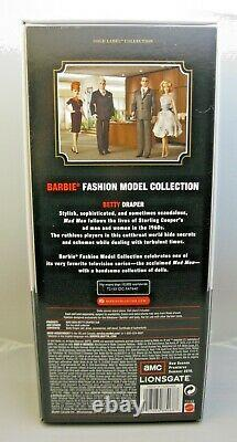 Betty Draper Mad Men Silkstone Barbie Doll Gold Label T2153 Limited Edition NRFB