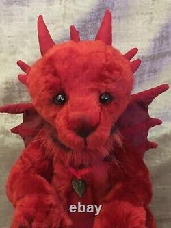 CHARLIE BEARS SERAPHINA DRAGON 2017 LIMITED EDITION BEAR sold out & retired