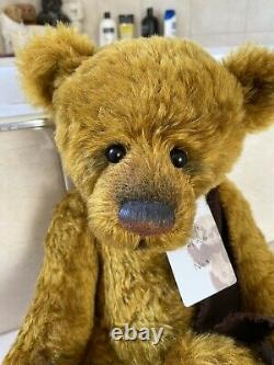Charlie Bear Jonah Limited Edition Mohair Bear No. 3/350. Retired- From 2012