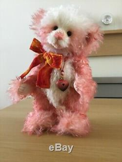 Charlie Bears 2011 Strawberry Cheesecake Non UK Ltd Edition Pink Mohair 362/500