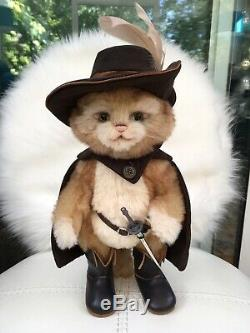 Charlie Bears En Garde Limited Edition Mohair Puss In Boots Rare