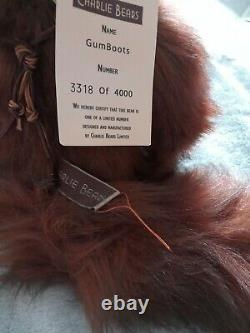 Charlie Bears Gumboots Fox Limited Edition No. 3318 Of 4000 Retired