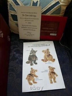 Charlie Bears Huff puff & three pigs ltd edition 32of 200