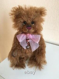 Charlie Bears Limited Edition Mohair Teddy Bear Anniversary Pumpkin 28cm