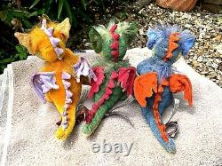 Charlie Bears Vesta, Firefly & Flame Limited Edition Minimo Dragons