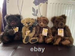 Charlie Bears limited edition 5th anniversary retired collection of 4 bears