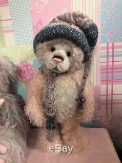 Charlie bears pink mohair hat bear Toastie Isabelle Lee Limited Edition retired