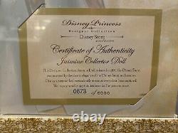 Disney Store Aladdin Jasmine LE Designer Doll #673 of 6000 Limited Edition 2011