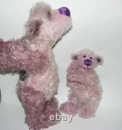 Hildegard Gunzel artist limited edition of 28 Mohair jointed BEAR & BABY