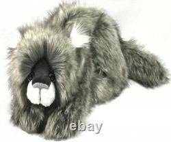 Kaycee Bears Limited Edition LINUSGrey Fluffy Jointed Cat Handmade Collectable