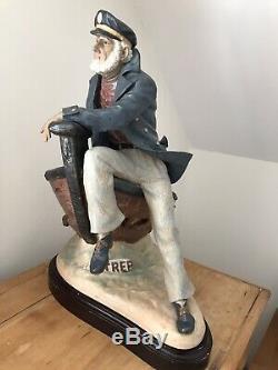 LLADRO DAYS OF YORE 12248 Huge Fisherman Figurine Rare Retired LTD Edition COA