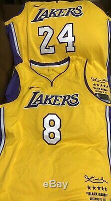 Lakers Kobe Bryant Retirement Limited Edition Nike Jersey #8 (XXL) #24 (3XL)