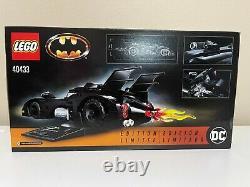 Lego Batman 40433 Limited Edition 1989 Batmobile Brand New Sealed Retired Set