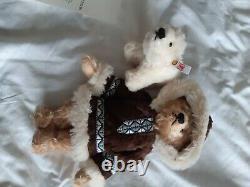 Limited edition Steiff Eskimo Teddy Bear and Polar Bear now retired
