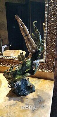 Mark Hopkins Sea Maiden Limited Edition Bronze Sculpture Rare & Retired