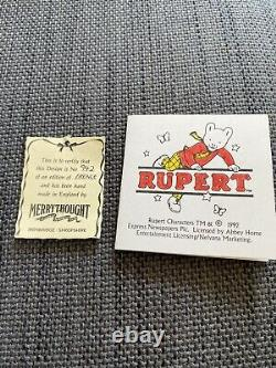 Merrythought Rupert Bear 1992 18 Inch Limited Edition Good Condition