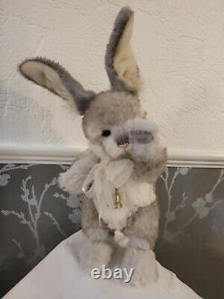 New! Charlie Bears Rabbit Span Retired/ Limited Edition Mohair/alpaca