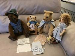 R John Wright US Artist LTD Edition Goldilocks & The Three Bears. Not Steiff