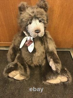 Retired Aldwyn Charlie Bear- limited edition jointed plush teddy bear NWT