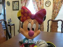 Romero Britto Disney Extra Large Minnie Mouse Figurine Retired Limited Edition