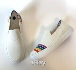 Rothys Limited Edition 8.5 Rainbow Pride Slip On Sneakers Retired Unicorn