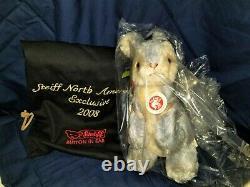 STEIFF 2008 Limited Edition Mr. Hopkins Blue Mohair Bunny Rabbit EAN 681288