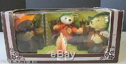STEIFF NIMROD TEDDY BEAR SET USA Limited Edition 1983 Campfire 0210/22 NRFB