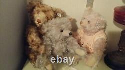 STEIFF Rose Pink Teddy Bear Long Mohair Limited Edition 408731