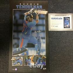 Sachin Tendulkar India Hand Signed Limited Edition Retirement One Day Print