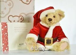 Steiff 037665 Christmas Teddy Bear Musical Limited Edition COA & Boxed
