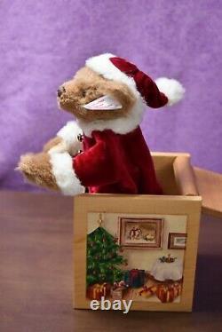 Steiff 038419 Teddy Bear Santa in the Box Limited Edition Boxed