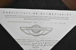 Steiff 666476 Harley-Davidson 100th Anniversary Bear Ltd Edition COA & Boxed
