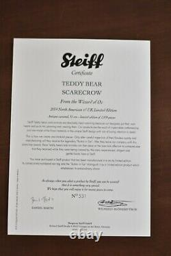 Steiff 682681 Scarecrow From The Wizard of Oz Limited Edition COA