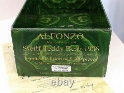 Steiff Alfonzo Teddy Bear 13 Tall Limited Edition Replica of 1908 Bear, Boxed