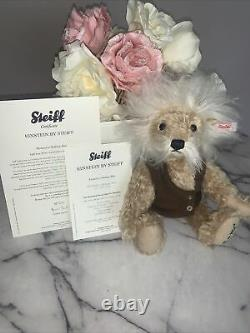 Steiff Limited Edition Bear Einstein With Certificate Immaculate