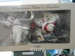 Steiff Limited Edition Of Father Christmas Teddy Bear With A Pony Sledge