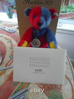 Steiff Limited Edition Teddy Bear Harlequin Replica Of A 1925 Bear