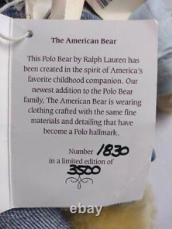 Steiff Polo Bear Ralph Lauren Limited Edition American Bear Growler with Tags