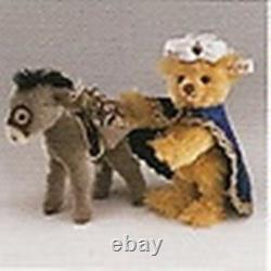 Steiff Teddy Bear With Little Donkey Mohair Set Limited Edition Ean 670886