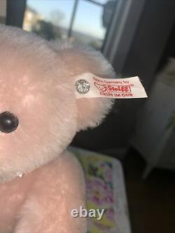 Steiff bears limited edition Krystie Pastel Pink With Swarovski