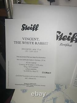 Steiff limited edition Vincent Rabbit Extraordinary Piece With Working Watch