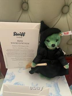 Steiff limited edition bears Toto, Dorothy, Wicked Witch Wizard Of Oz COA/Boxed