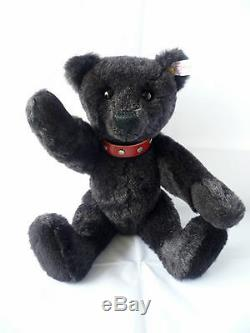 Steiff limited edition black bear with leather collar 038150