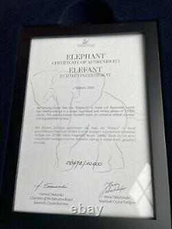 Swarovski Crystal Large Elephant signed in Case Retired 2006 Limited Edition