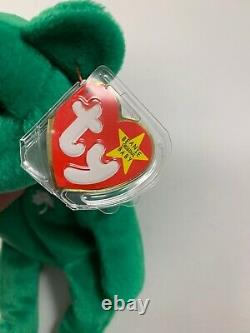 Ty Beanie Baby Erin the Irish Bear Limited Edition RETIRED 1997 MC with Tags